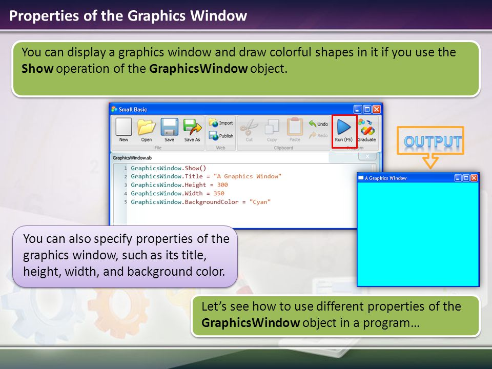 Microsoft small basic ppt video online download 4 properties ccuart Image collections