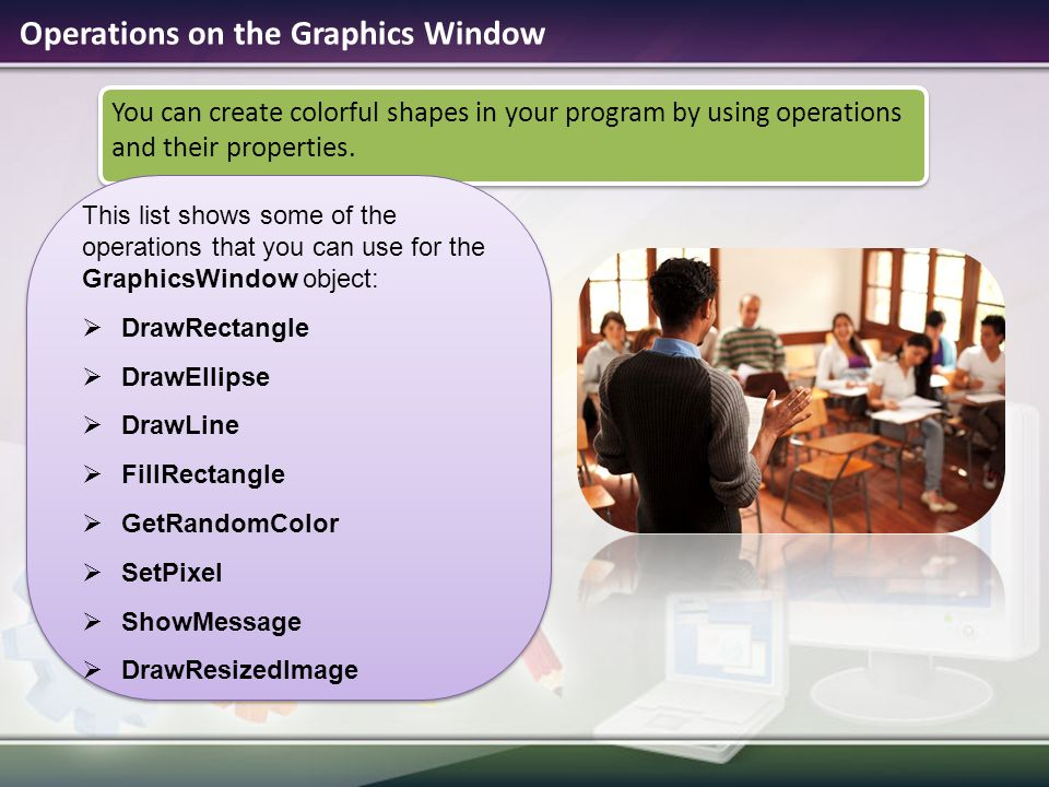 Operations on the Graphics Window