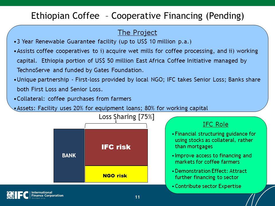Ethiopian Coffee – Cooperative Financing (Pending)