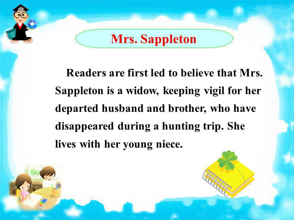 Mrs. Sappleton