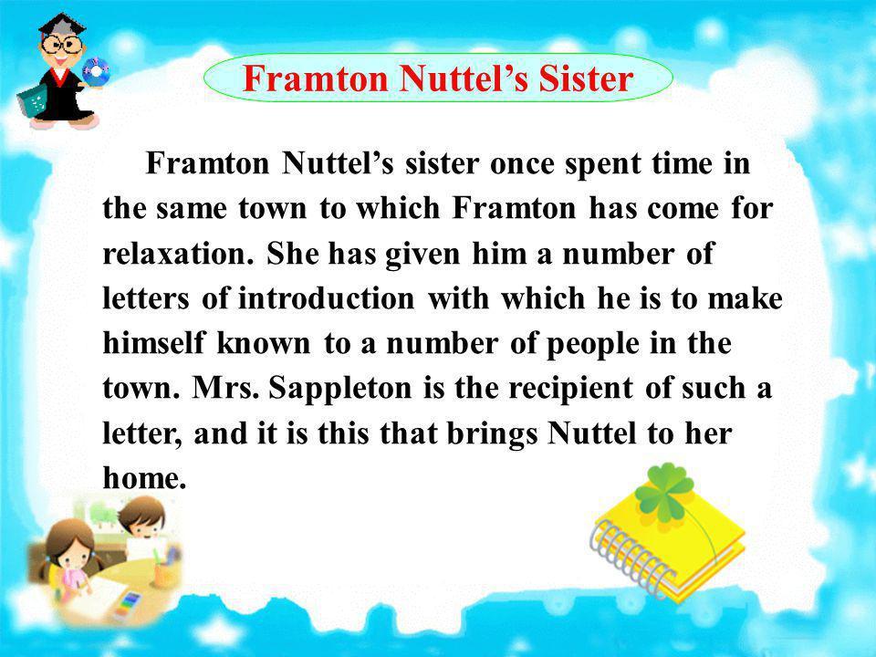 Framton Nuttel's Sister