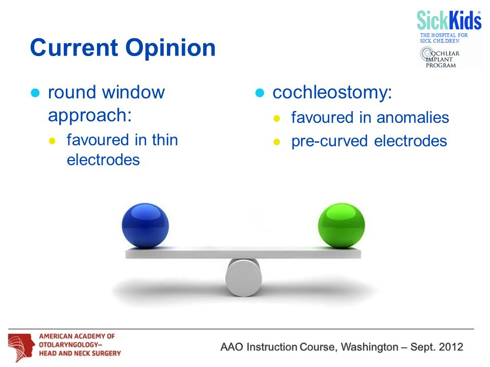 Current Opinion round window approach: cochleostomy:
