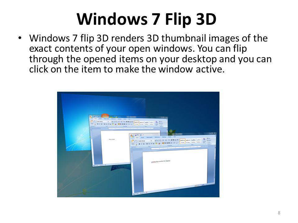 Windows 7 Flip 3D