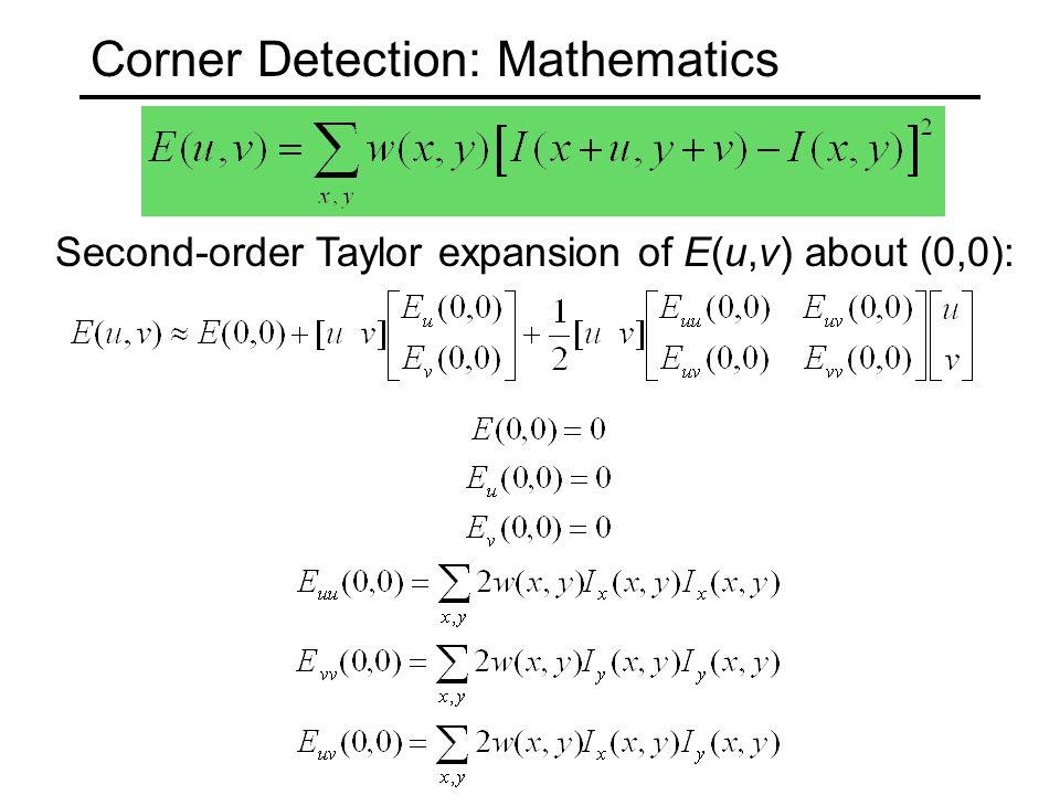 Corner Detection: Mathematics