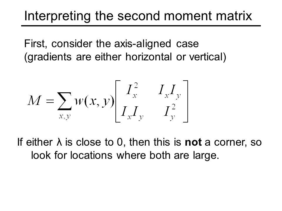 Interpreting the second moment matrix