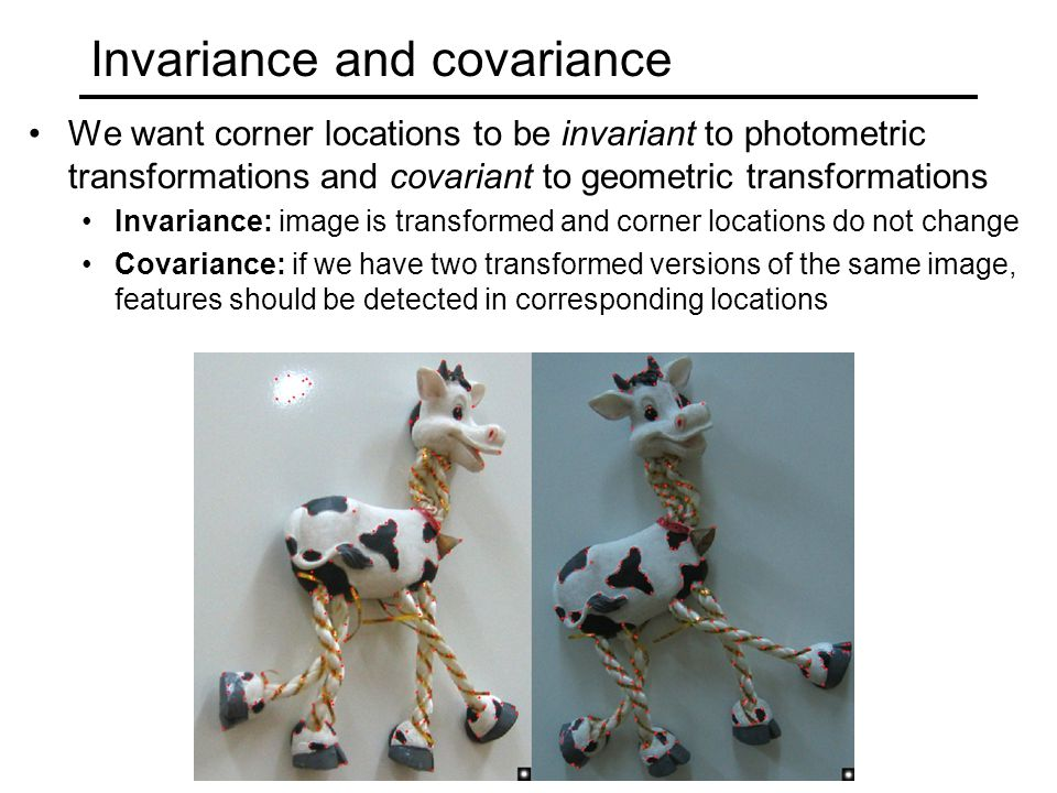 Invariance and covariance