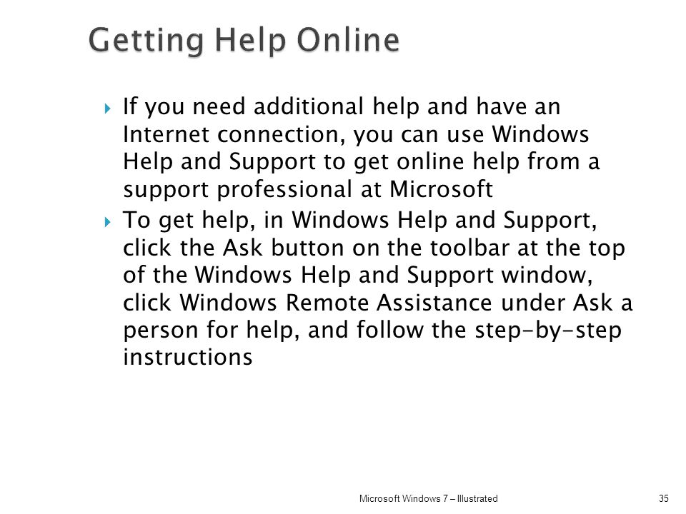 Getting Help Online