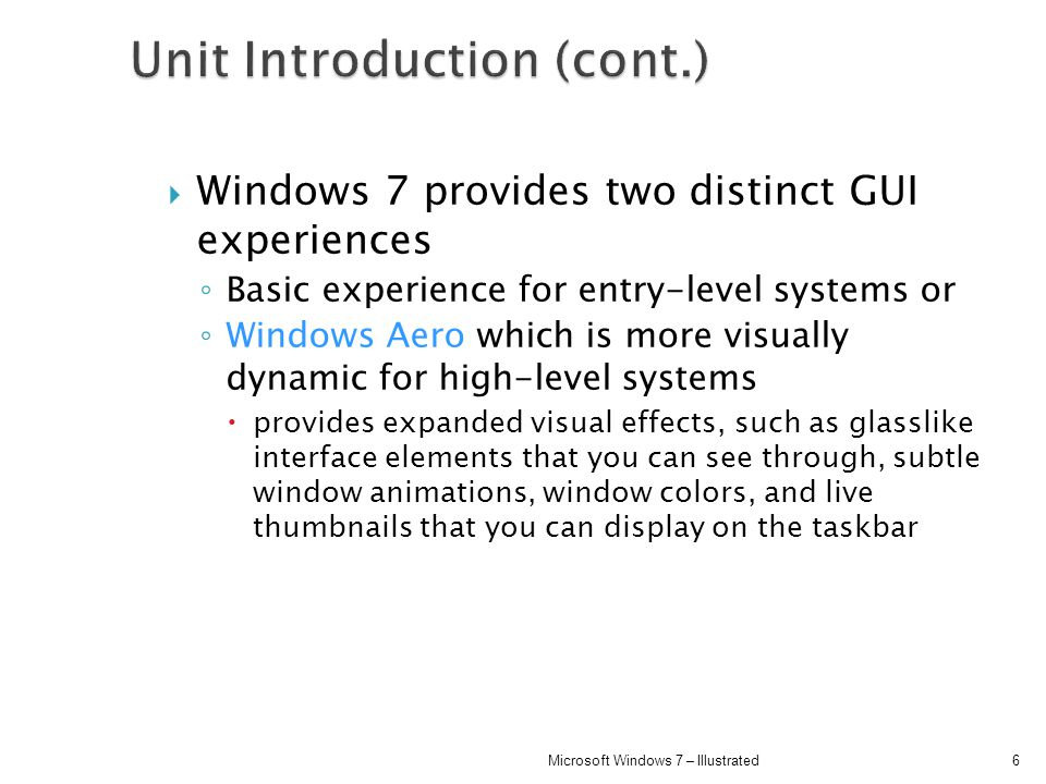 Unit Introduction (cont.)