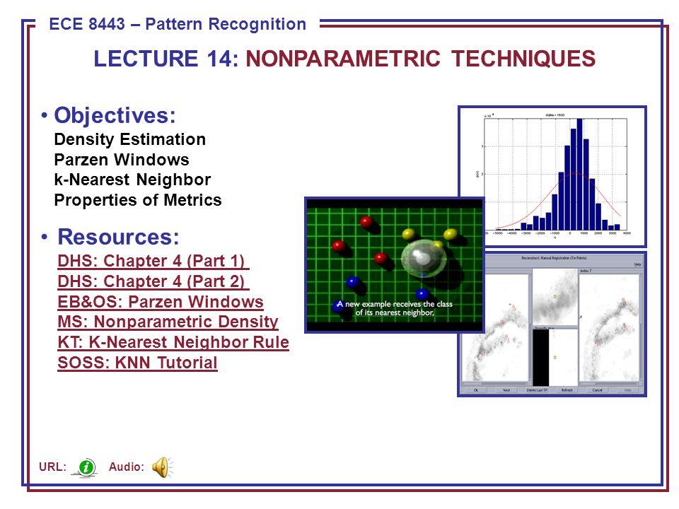 Principles of Density Estimation