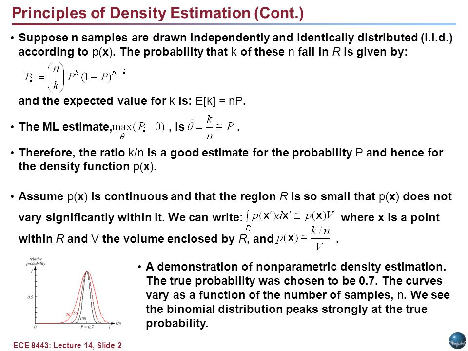 Principles of Density Estimation (Cont.)