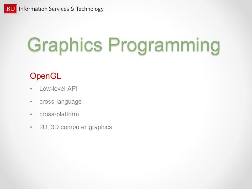 Graphics Programming OpenGL Low-level API cross-language