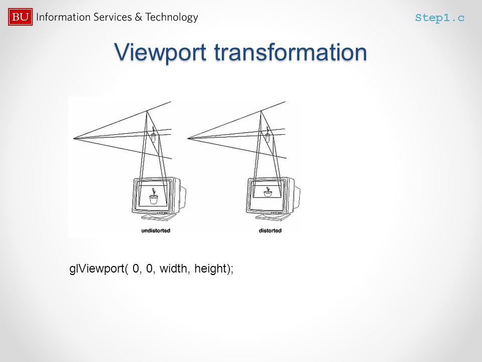 Viewport transformation