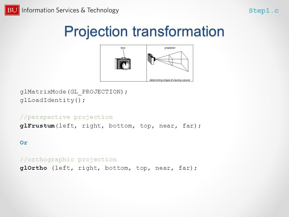 Projection transformation