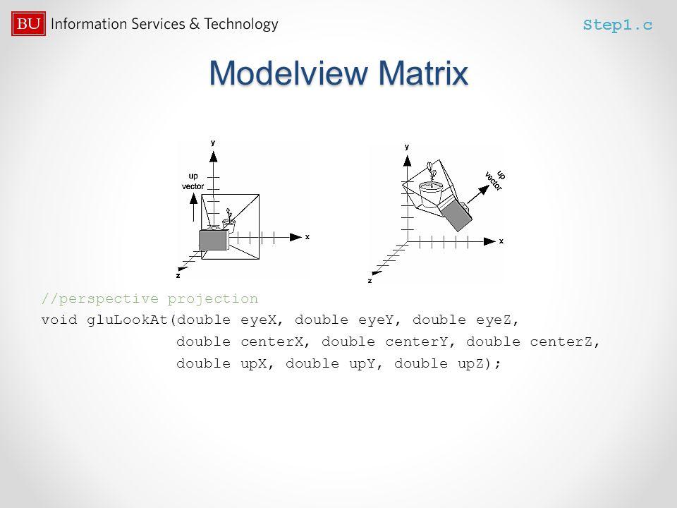 Modelview Matrix Step1.c