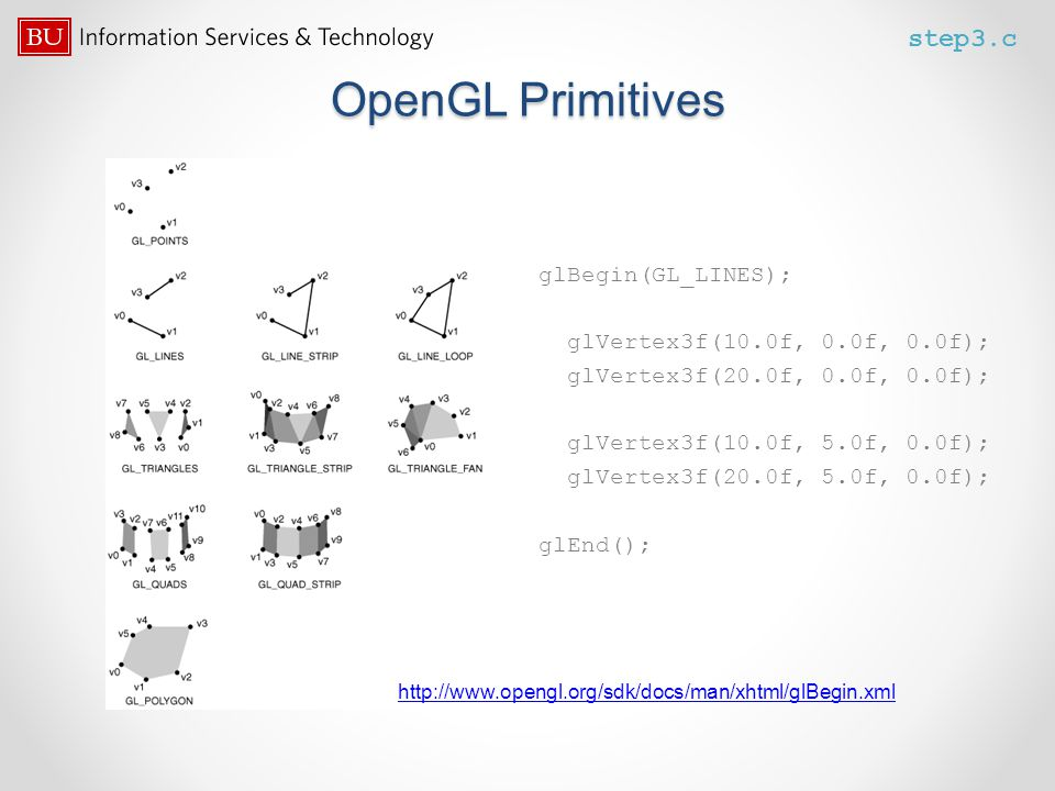 OpenGL Primitives step3.c