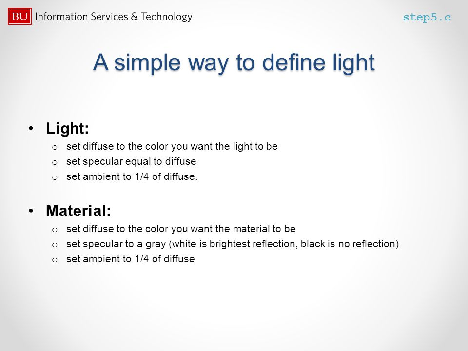 A simple way to define light