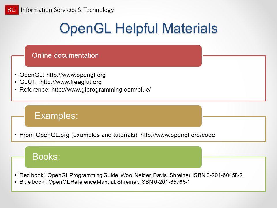 OpenGL Helpful Materials