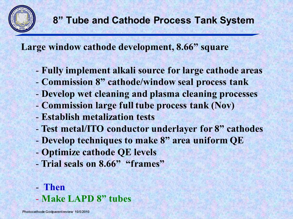8 Tube and Cathode Process Tank System