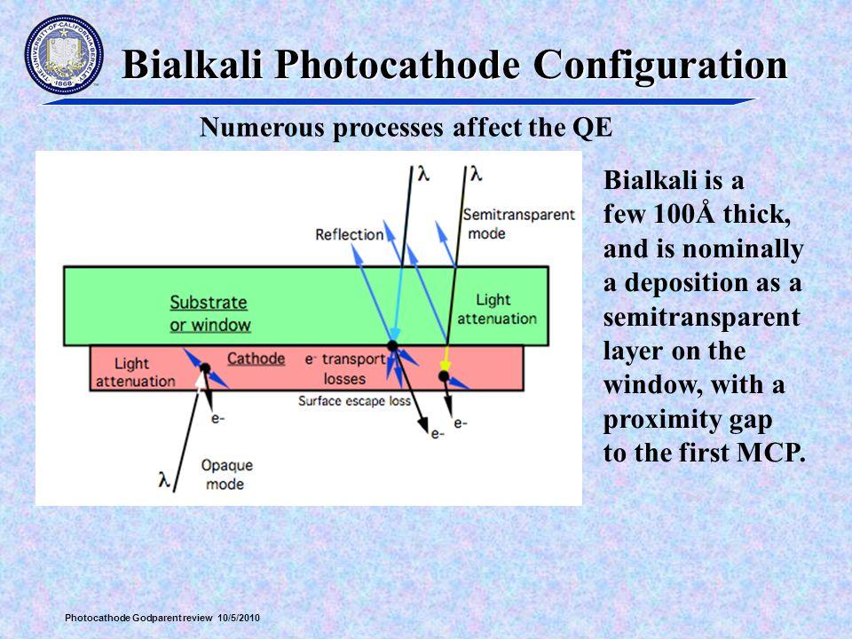 Bialkali Photocathode Configuration