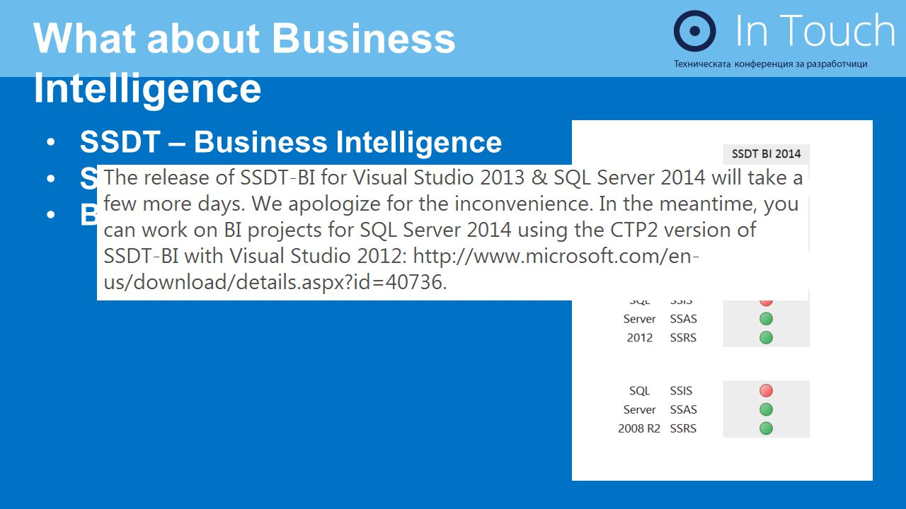 What about Business Intelligence