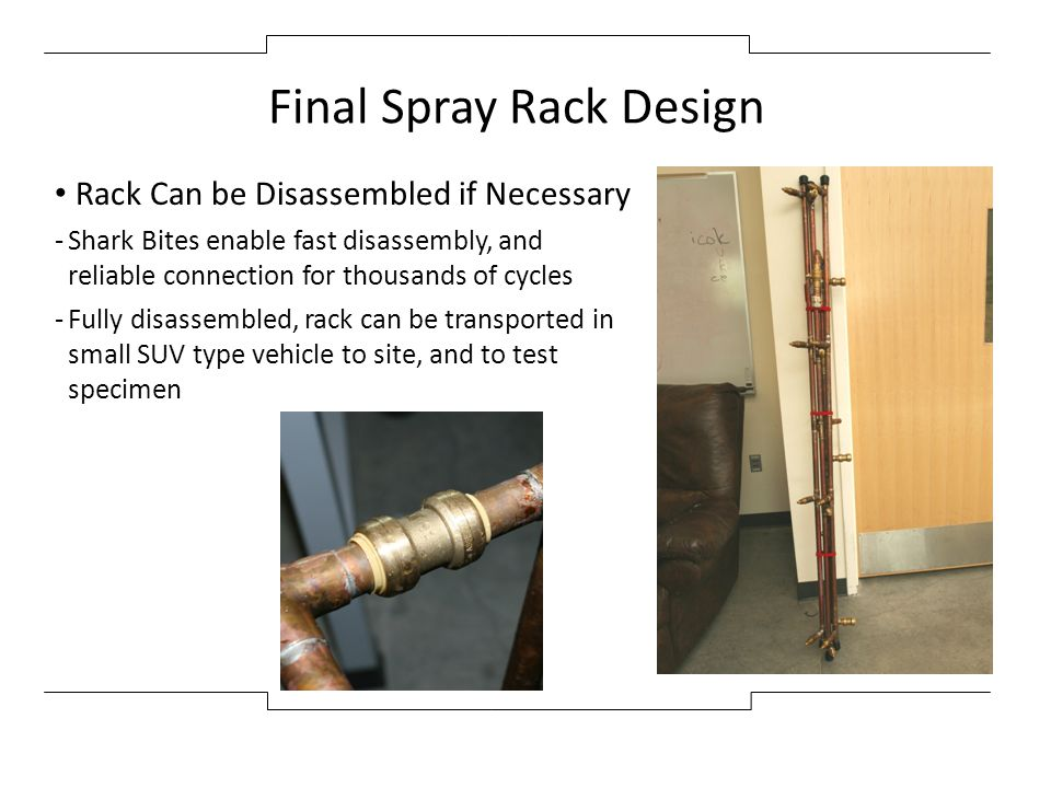 Final Spray Rack Design