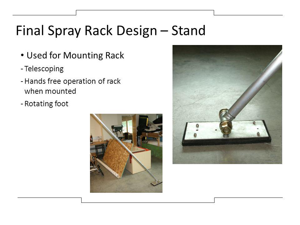 Final Spray Rack Design – Stand