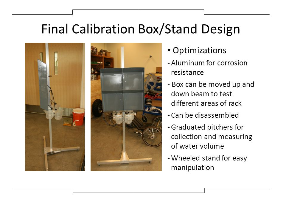 Final Calibration Box/Stand Design
