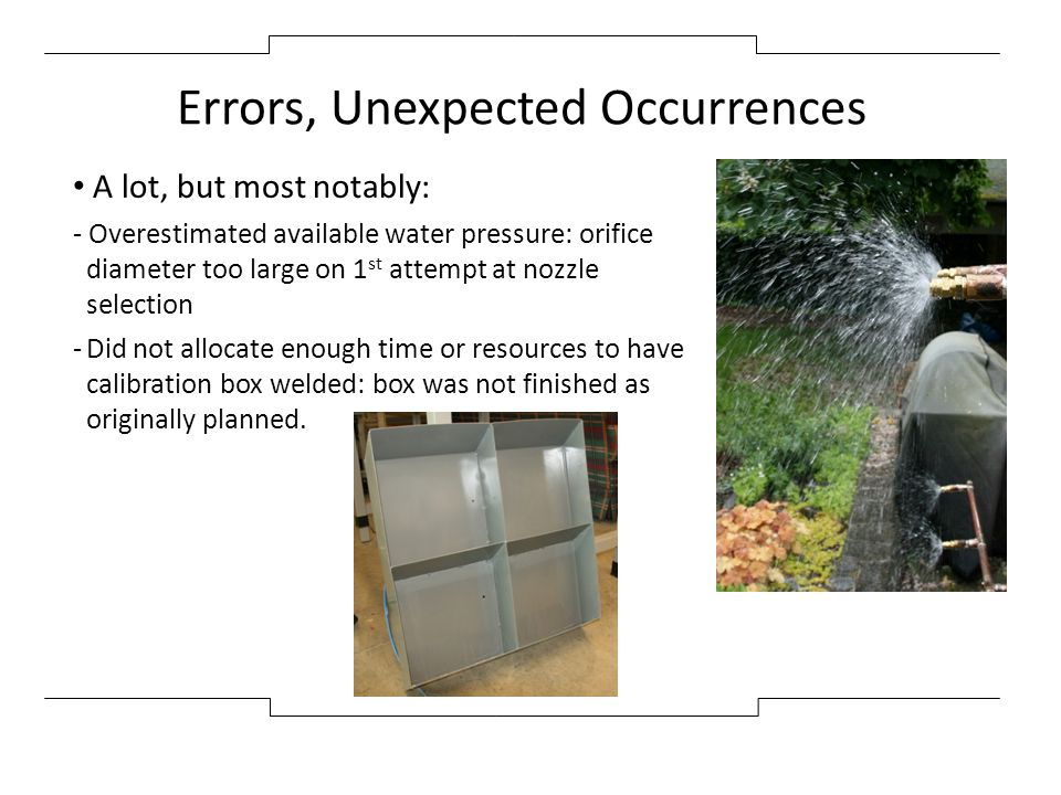 Errors, Unexpected Occurrences