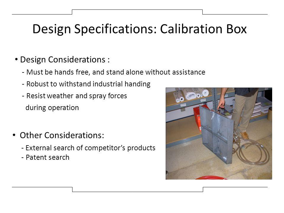 Design Specifications: Calibration Box
