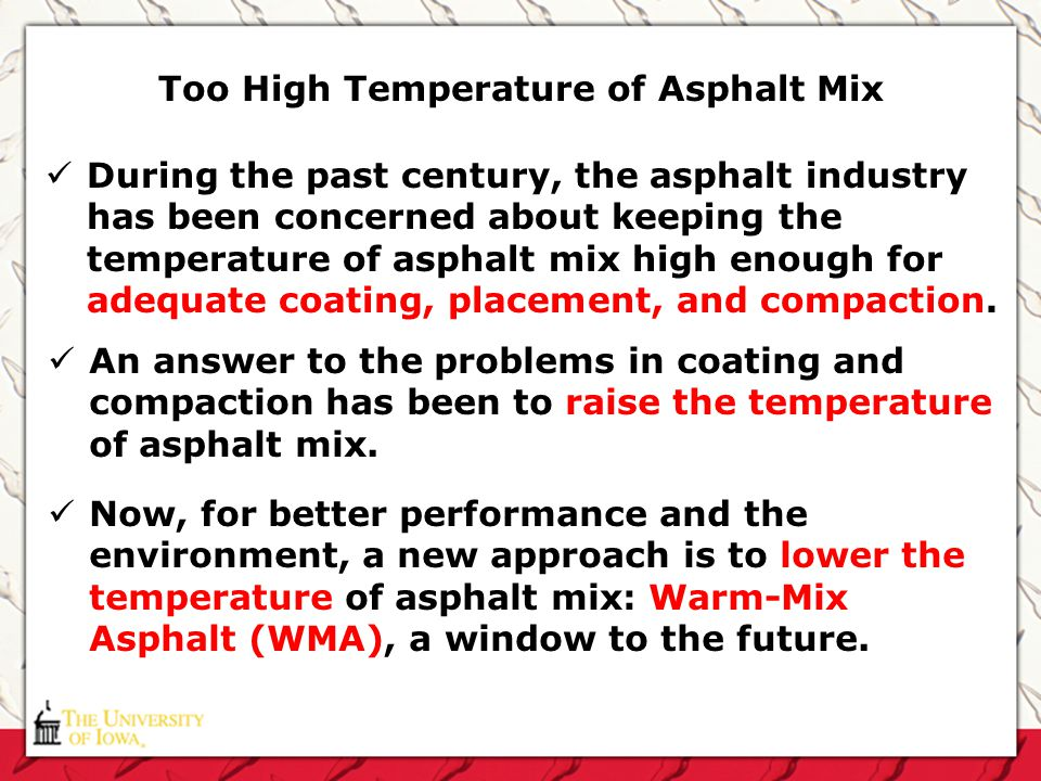 Too High Temperature of Asphalt Mix