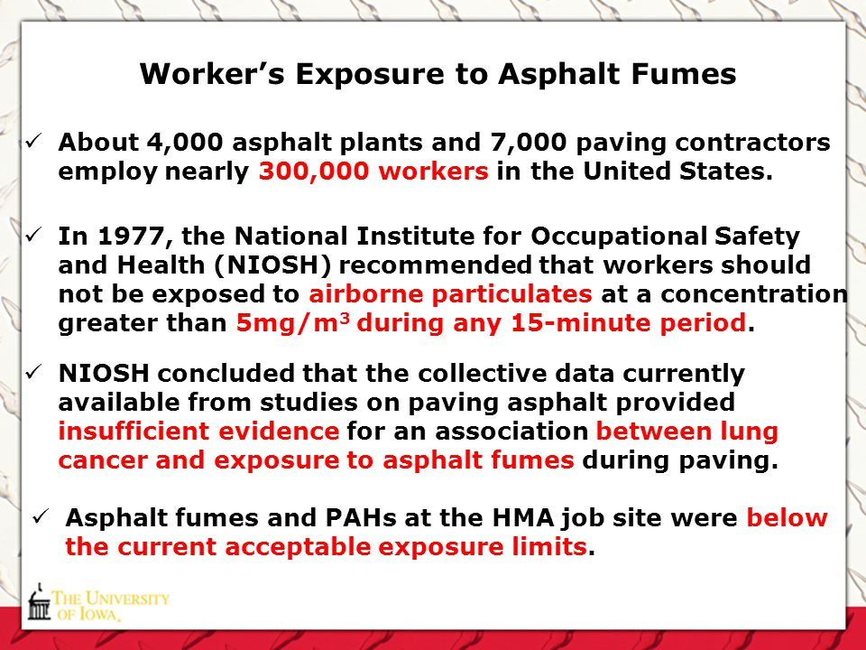 Worker's Exposure to Asphalt Fumes