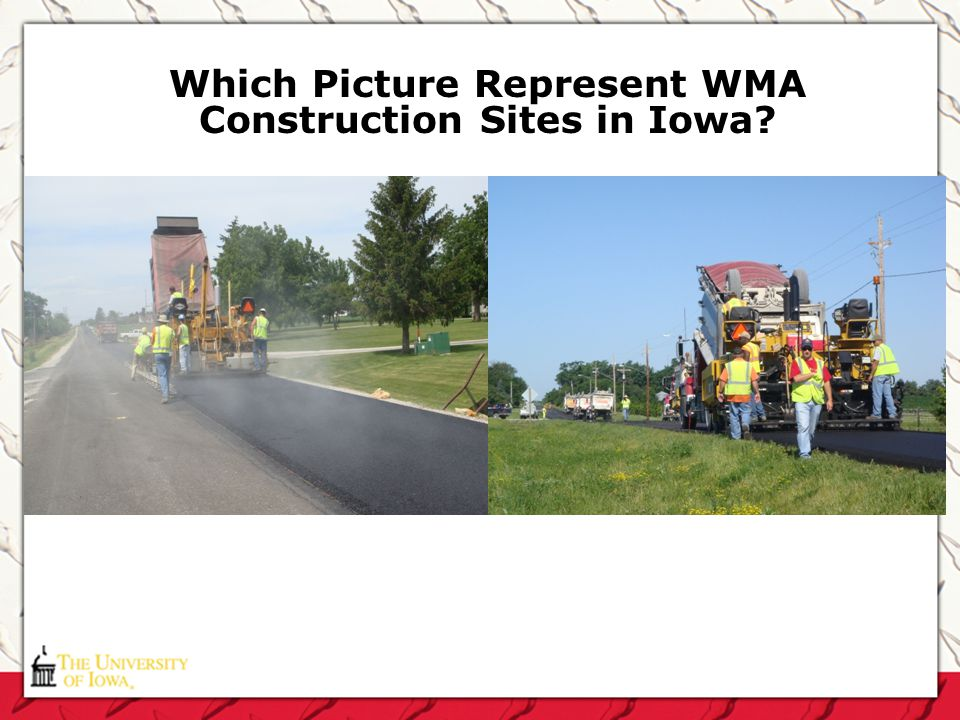 Which Picture Represent WMA Construction Sites in Iowa