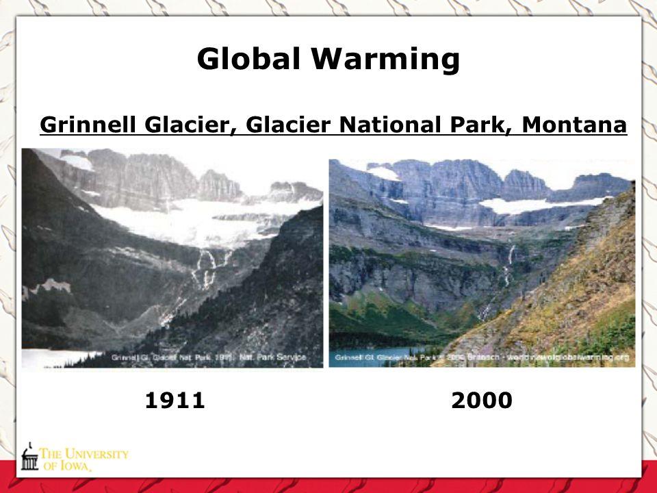 Global Warming Grinnell Glacier, Glacier National Park, Montana 1911