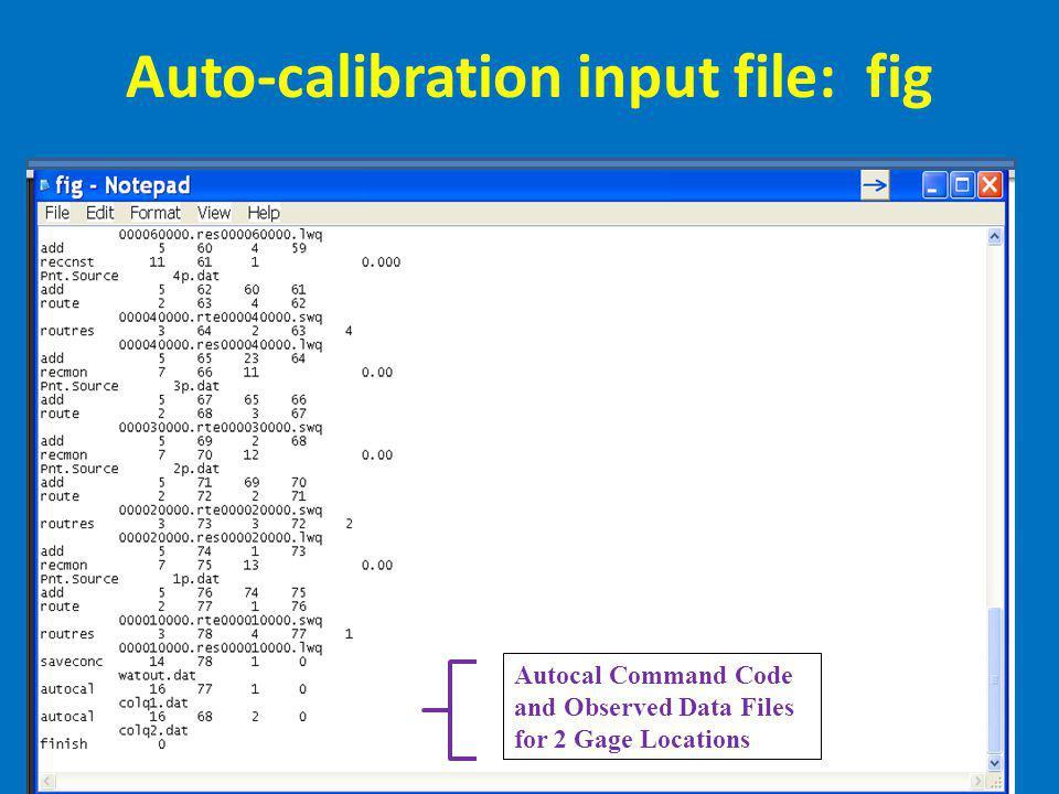 Auto-calibration input file: fig