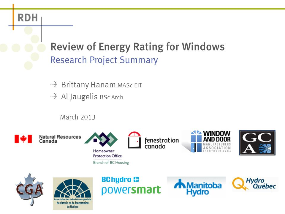Review of energy rating for windows ppt video online Energy rating for windows