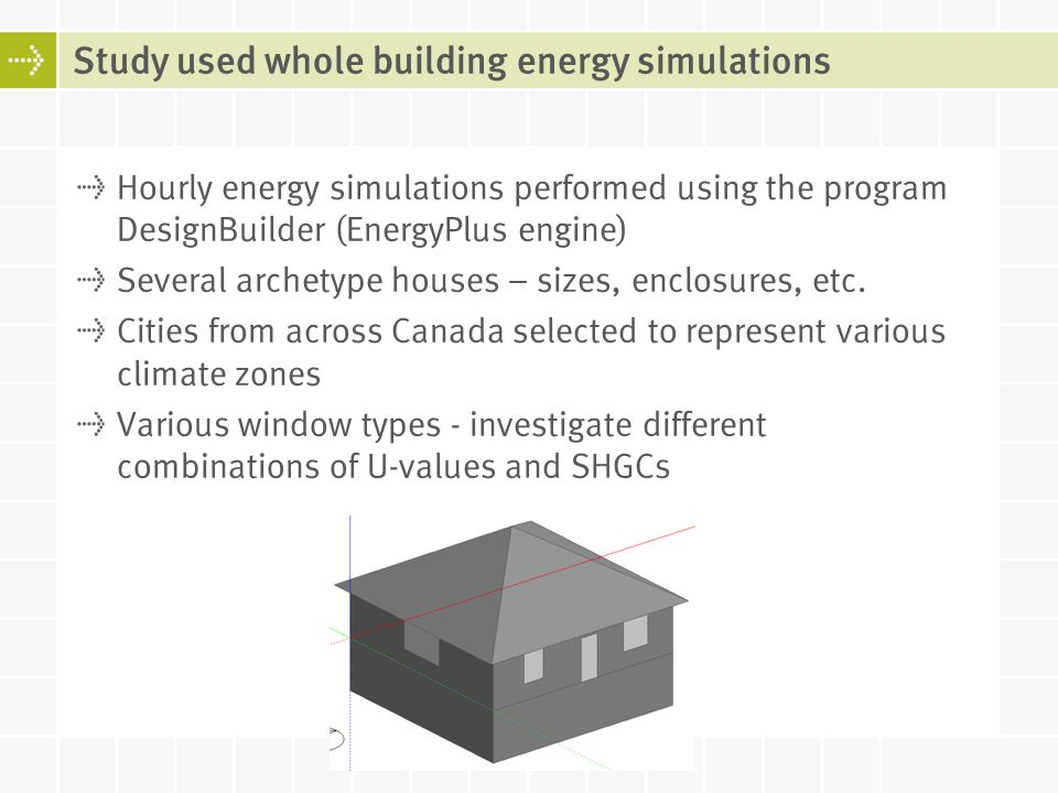 Study used whole building energy simulations