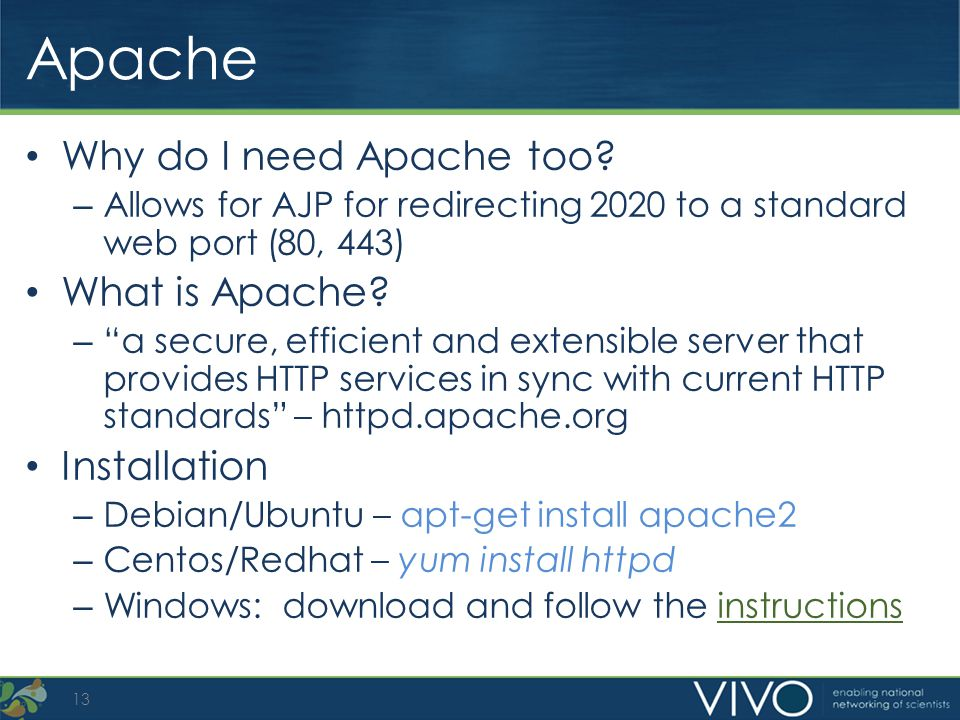 Apache Why do I need Apache too What is Apache Installation