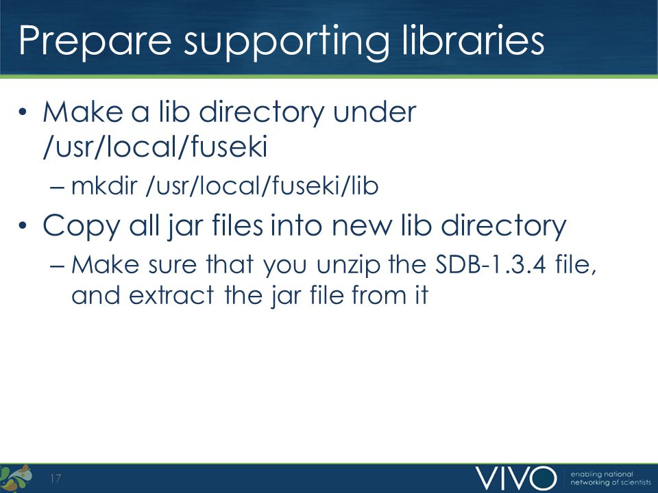 Prepare supporting libraries