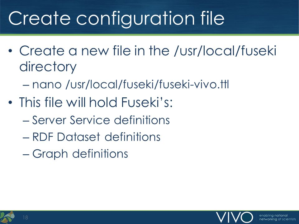 Create configuration file