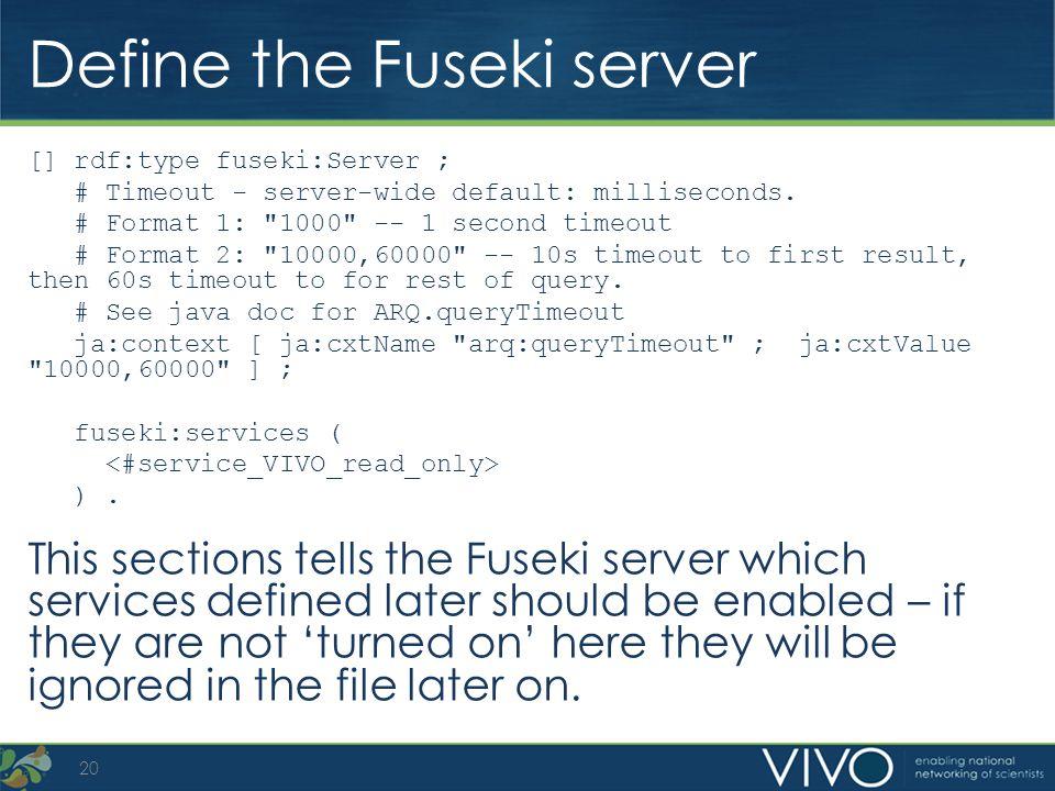 Define the Fuseki server