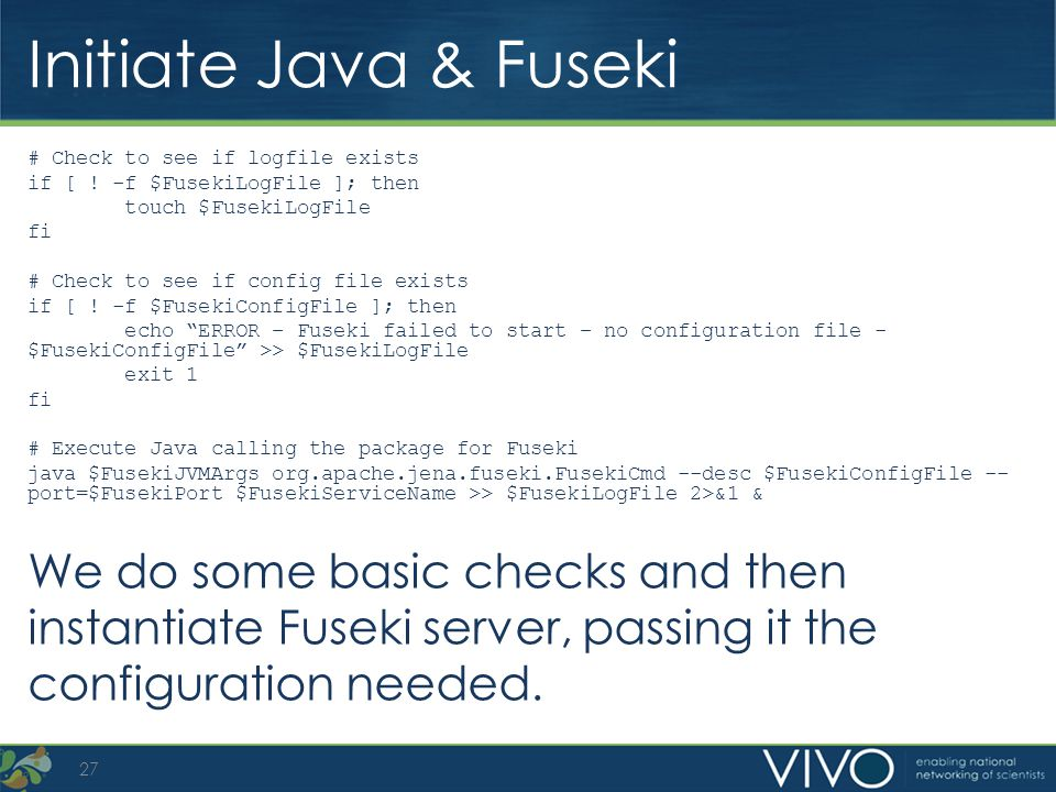 Initiate Java & Fuseki