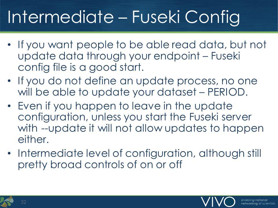 Intermediate – Fuseki Config