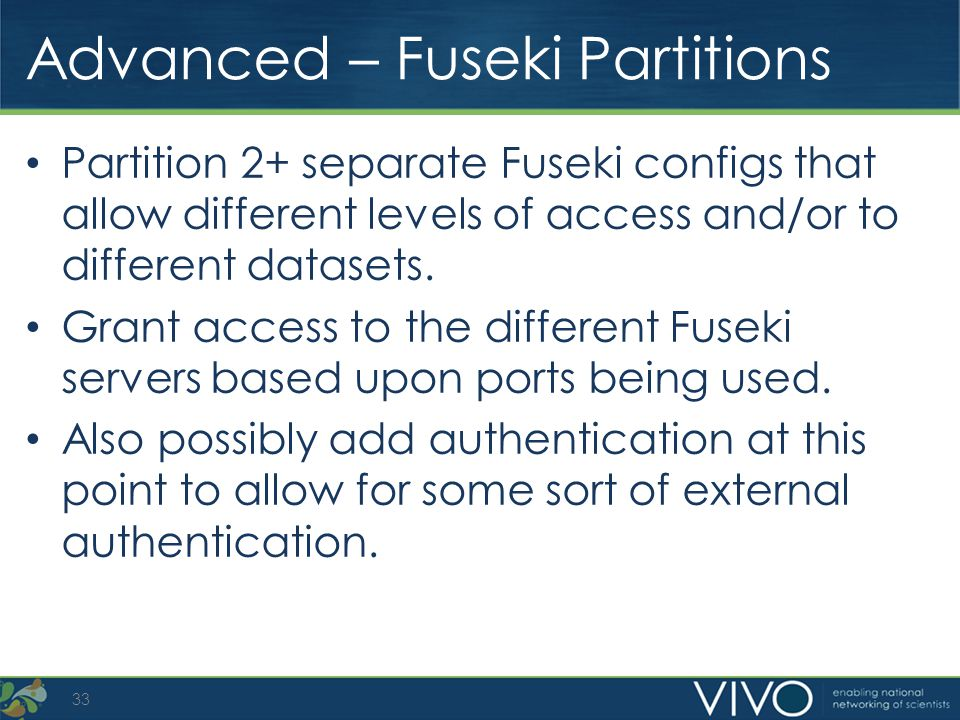 Advanced – Fuseki Partitions
