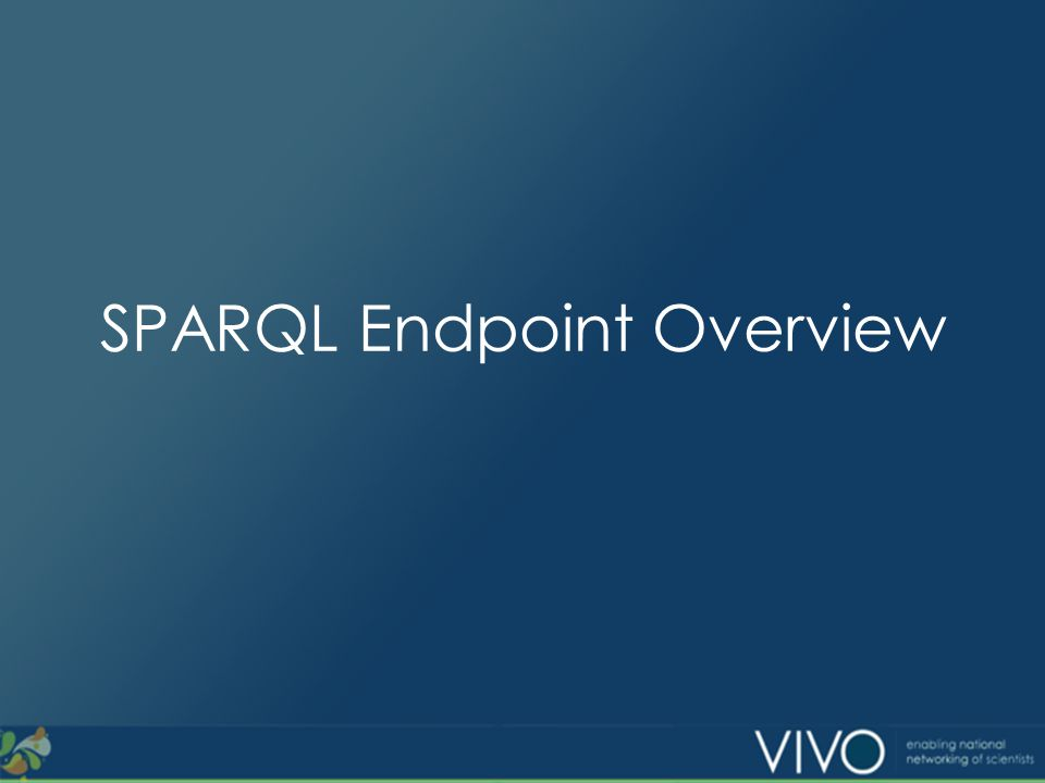 SPARQL Endpoint Overview