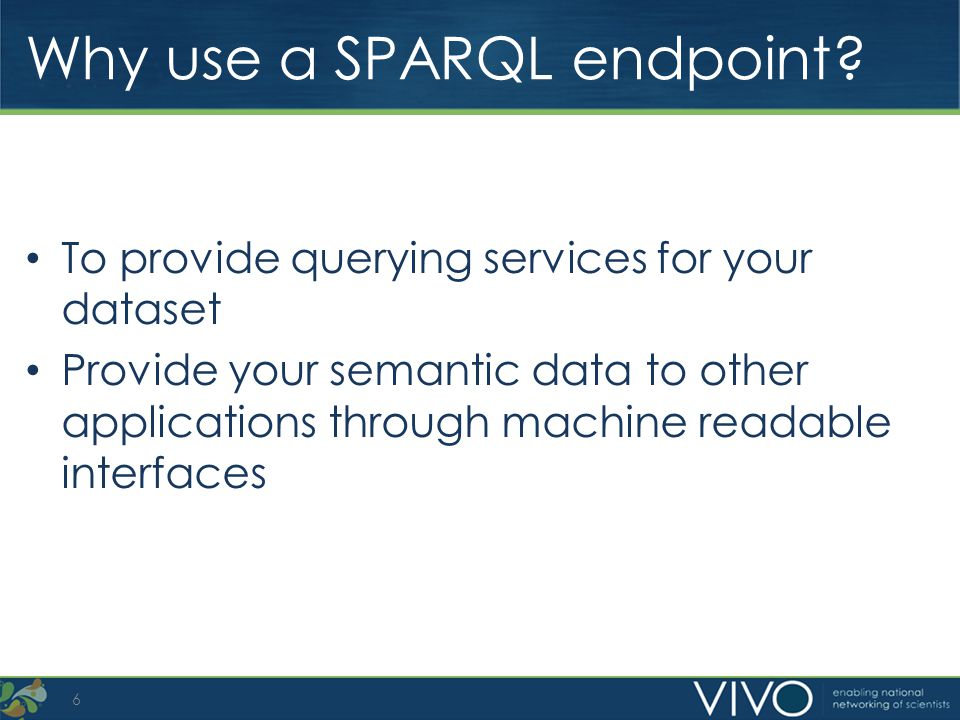 Why use a SPARQL endpoint