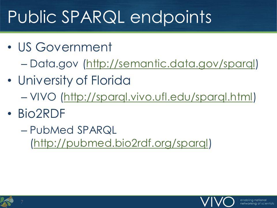 Public SPARQL endpoints