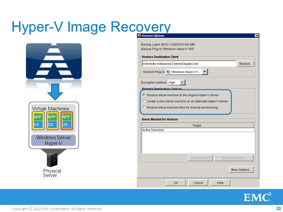 Hyper-V Image Recovery