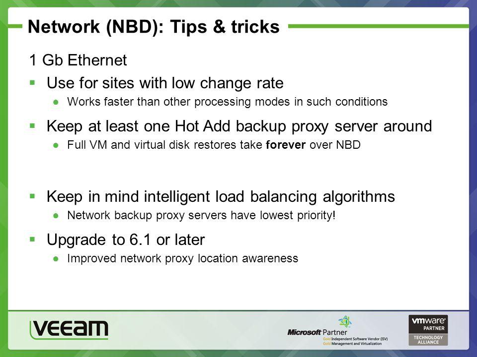 Network (NBD): Tips & tricks
