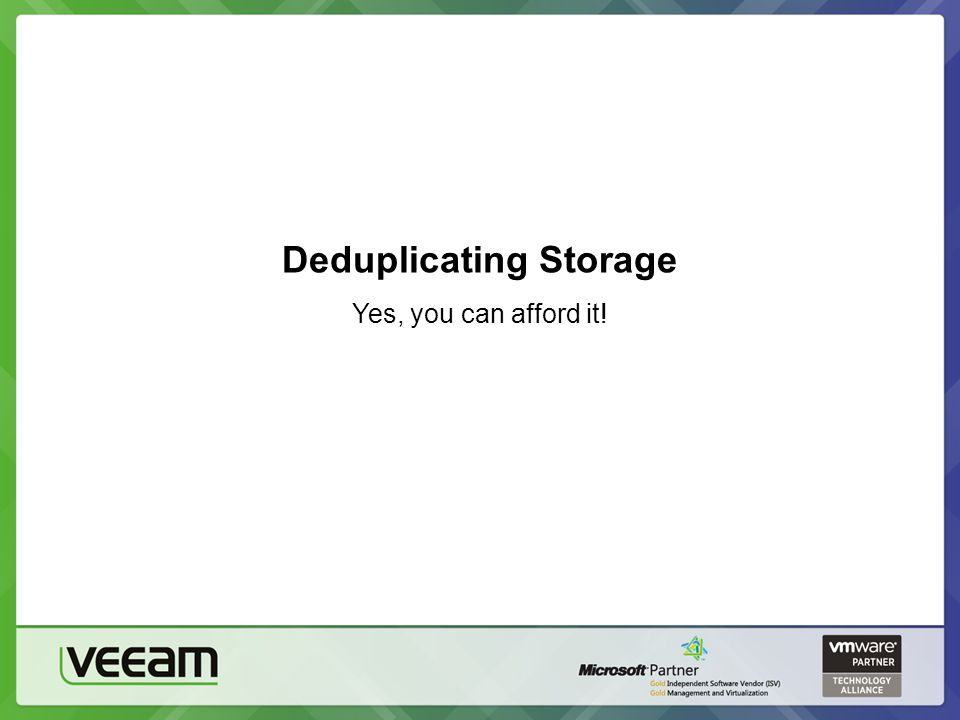 Deduplicating Storage