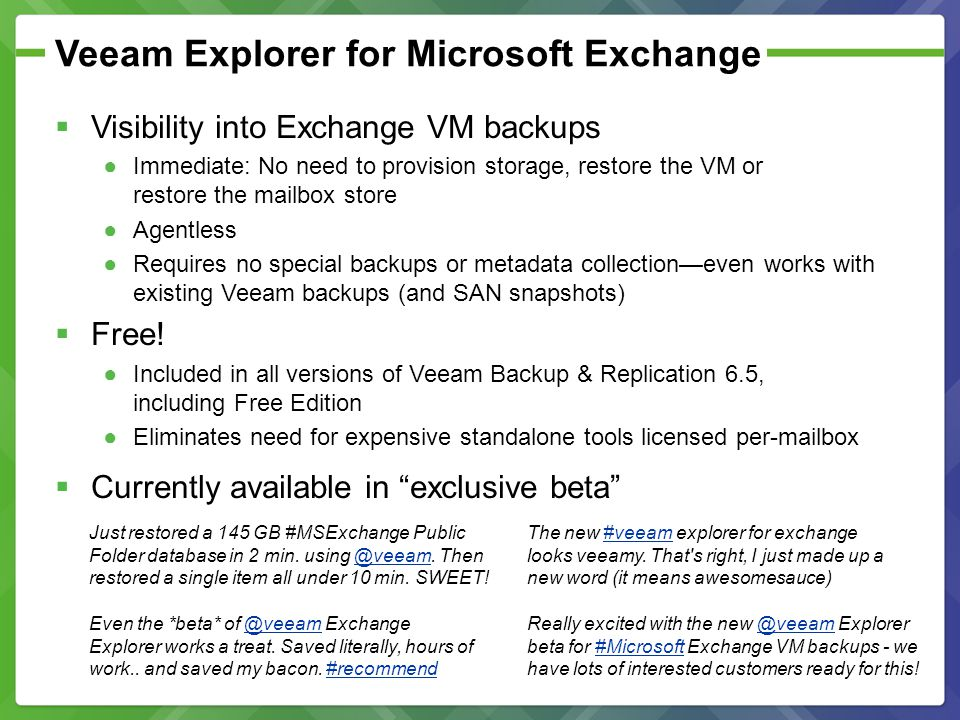 Veeam Explorer for Microsoft Exchange